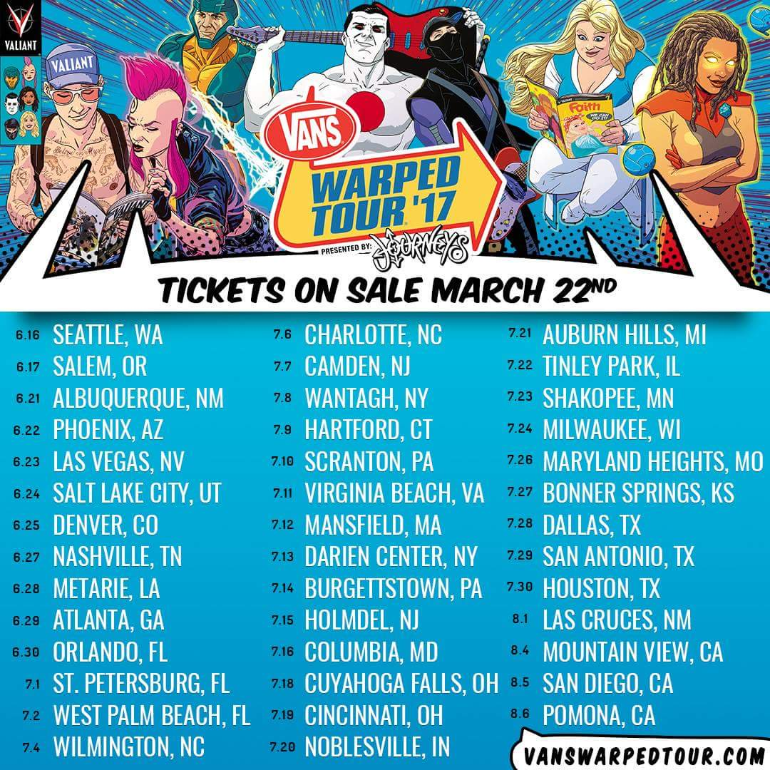 Vans Warped Tour 2017 Lineup