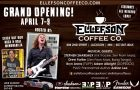 ELLEFSON COFFEE CO Grand Opening! – The boutique Coffee brand of Grammy-Winning MEGADEATH bassist and EMP Label Group's President DAVID ELLEFSON