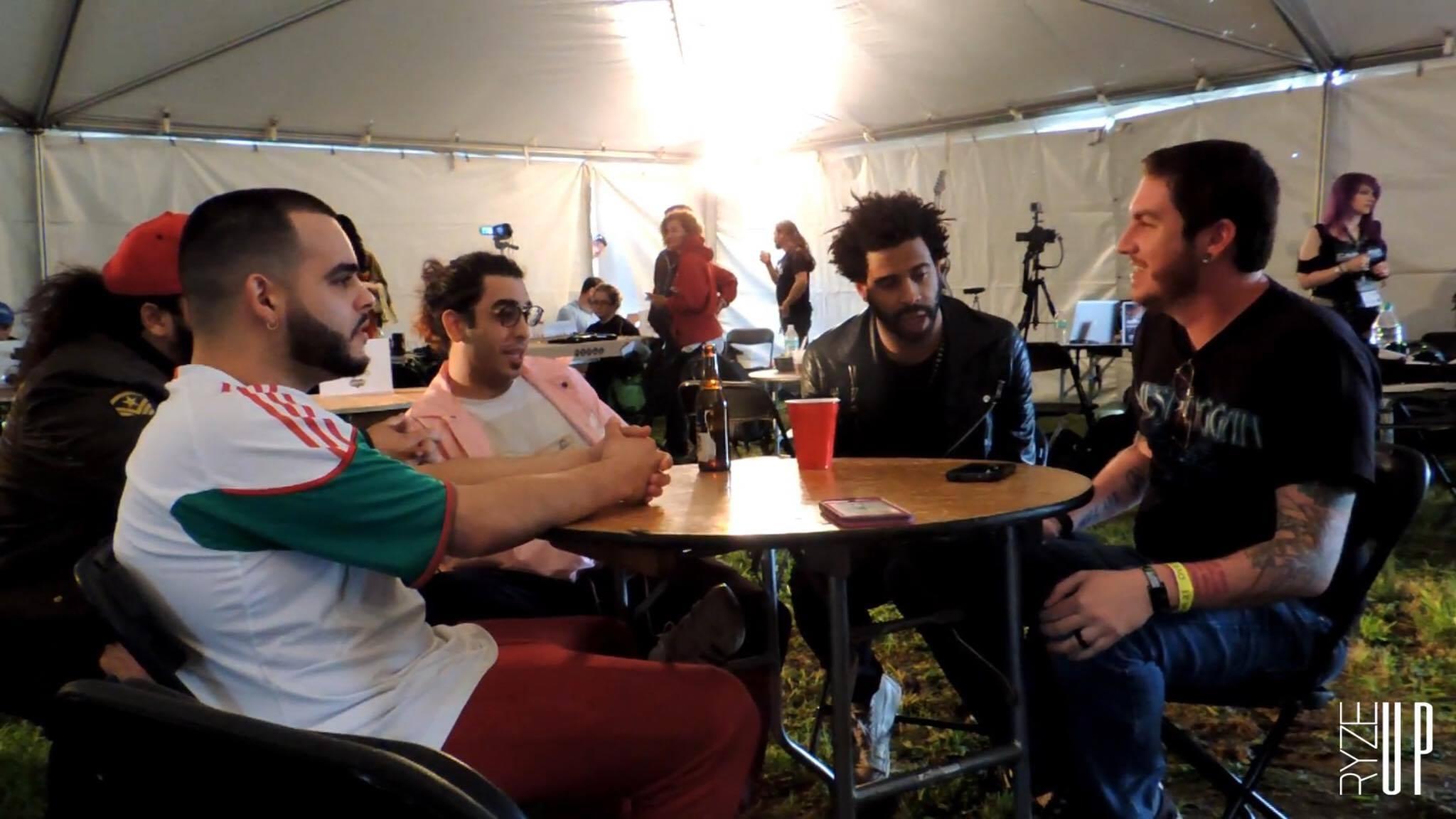 VOLUMES Talks With Ryze-Up at CAROLINA REBELLION 2017 | Backstage Conversations | Ryze-Up TV