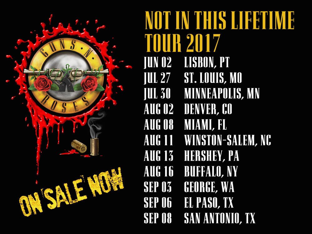 Guns N Roses Tour Poster  Washington Dc