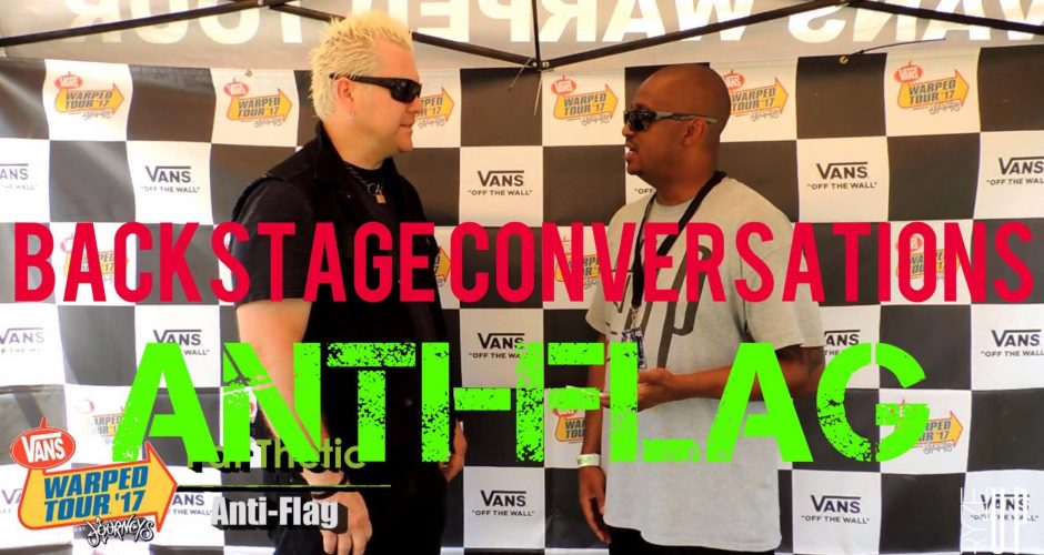 RYZE-UP EXCLUSIVE INTERVIEW: Pat Thetic of ANTI-FLAG at Vans Warped Tour 2017 – Charlotte, NC | Backstage Conversations – Watch!