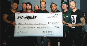 THE CRANBERRIES' DOLORES O'RIORDAN's CHILDREN HONORED WITH QUARTER MILLION DOLLAR CHECK FROM BAD WOLVES