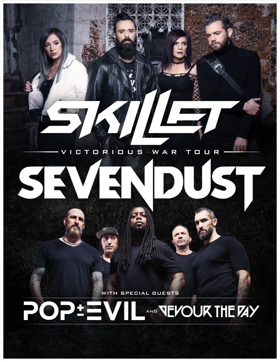 Skillet + Sevendust Announce Summer 2019 Tour Plans